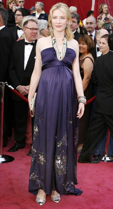 Cate Blanchett arrives at the 80th annual Academy Awards