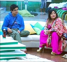 Samir Soni and Dolly Bindra in Bigg Boss