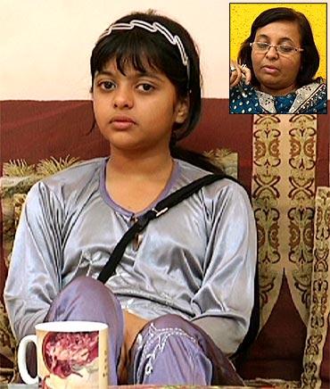 Ishita Panchal. Inset: Ishita's mother Priti Panchal