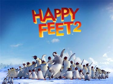 A poster of Happy Feet 2