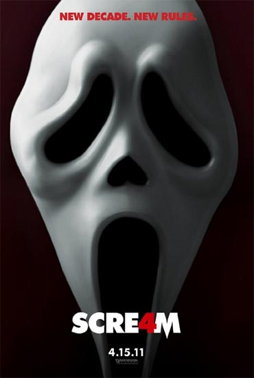 A poster of Scream 4