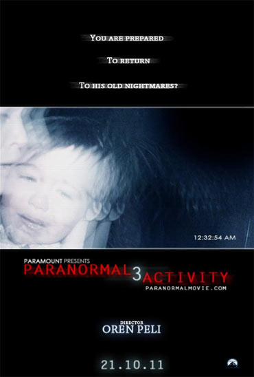 A poster of Paranormal Activity 3