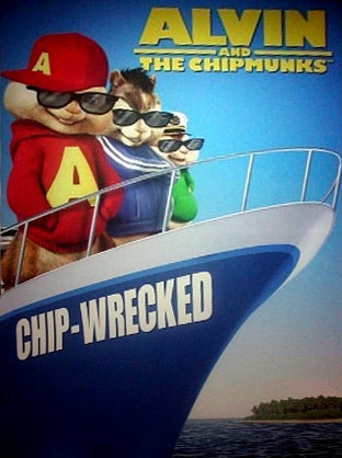 A poster of Alvin and the Chipmunks: Chip-Wrecked