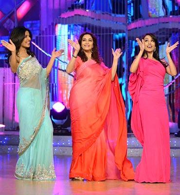 Priyanka Chopra, Madhuri Dixit and Malaika Arora