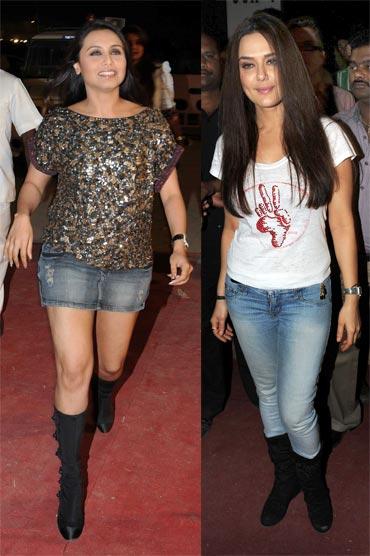 Rani Mukerji and Preity Zinta
