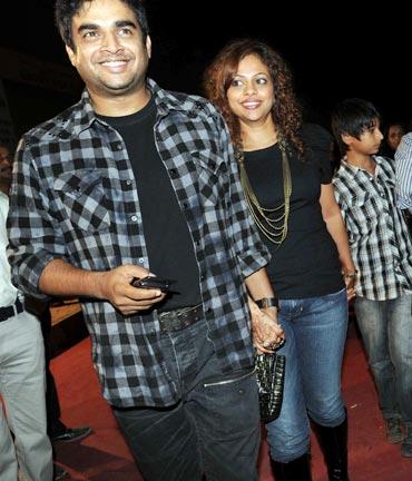 Madhavan and Sarita Birje