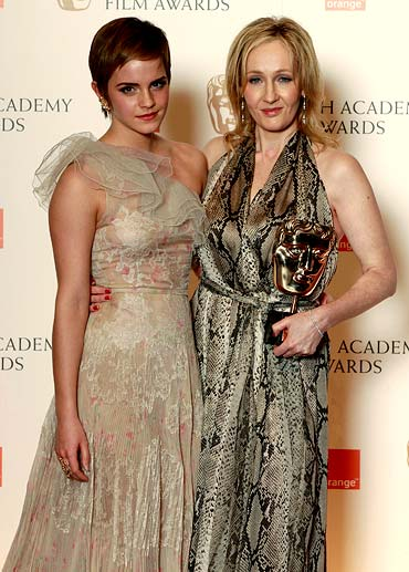 Emma Watson and J K Rowling