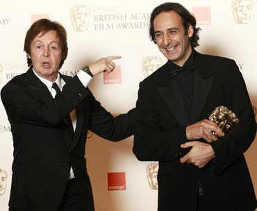 Sir Paul McCartney and Alexandre Desplat