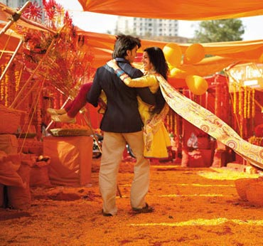 A <b>scene</b> from <b>Band Baaja</b> Baraat