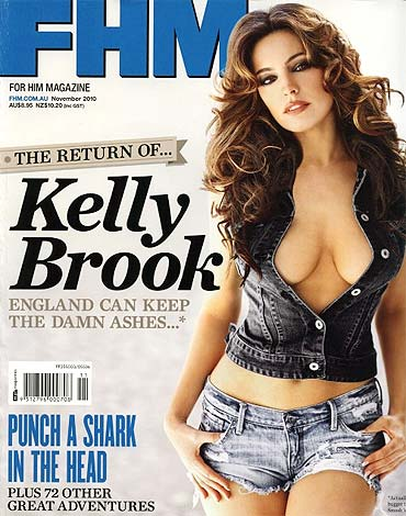 Kelly Brook on the cover of FHM