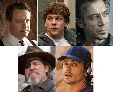 Colin Firth, Jesse Eisenberg, Javier Bardem, Jeff Bridges and James Franco