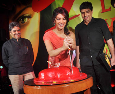 Vishal Bhardwaj, Priyanka Chopra and UTV head Ronnie Screwvala