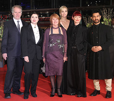 Jury members Guy Maddin, Isabella Rossellini, Jan Chapman, Nina Hoss, Sandy Powell and Aamir Khan attend the 'True Grit' Premiere