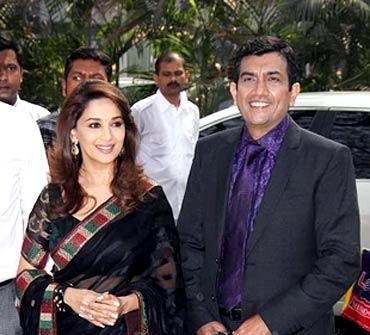 Madhuri Dixit and Sanjeev Kapoor