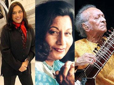 Mira Nair, Bhanu Athaiya and Pandit Ravi Shankar