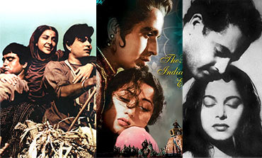Scenes from Mother India, Mughal-e-Azam and Pyaasa