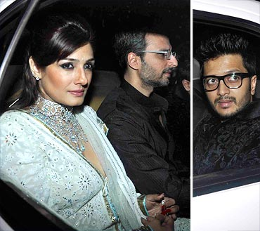Raveena Tandon, Anil Thadani and Riteish Deshmukh