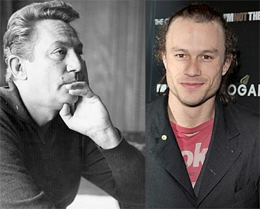 Peter Finch and Heath Ledger