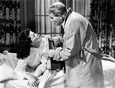 Katharine Hepburn and Spencer Tracy in Pat and Mike, one of many films they did together