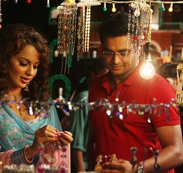 Kangna Ranaut and Madhavan in Tanu Weds Manu