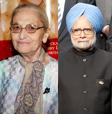 Ruth Prawer Jhabvala and Dr Manmohan Singh
