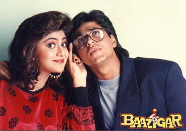 Shilpa Shetty and Shah Rukh Khan in Baazigar