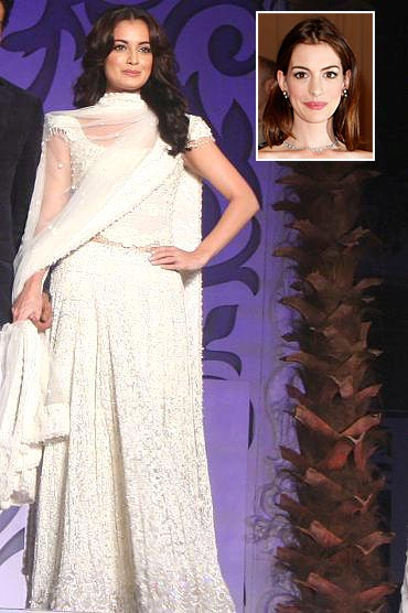 Dia Mirza, and an inset of Anne Hathaway