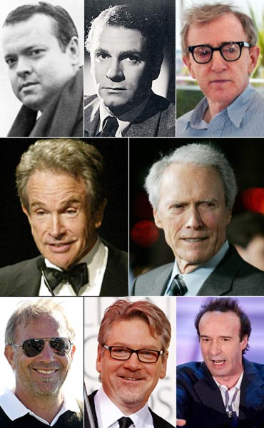 Orson Welles, Laurence Olivier, Woody Allen, Warren Beatty, Clint Eastwood, Kevin Costner, Kenneth Branagh and Robert Benigni