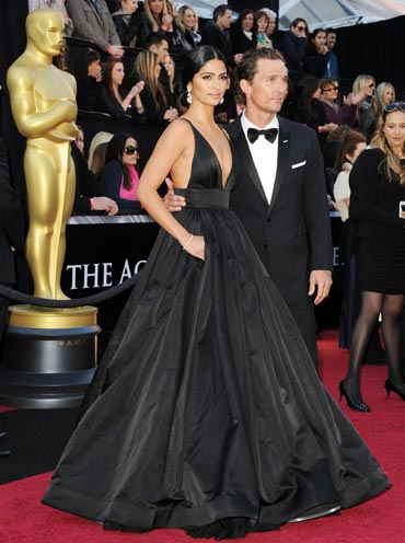Model Camila Alves with Matthew McConaughey
