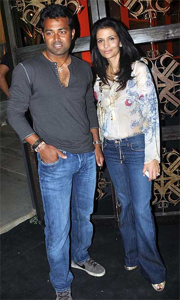 Leander Paes and Rhea Pillai