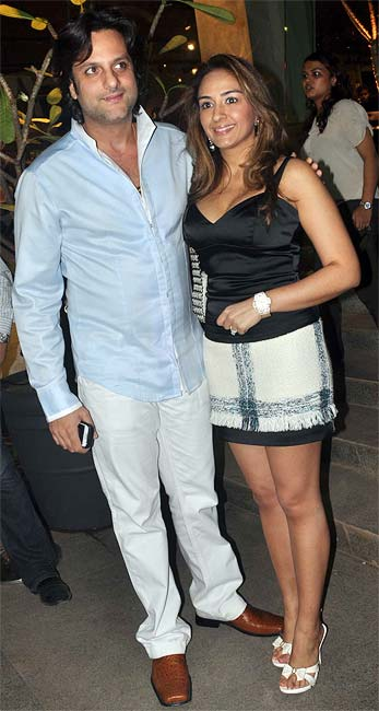 Fardeen Khan with Natasha Khan