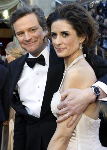 Colin Firth and wife Livia Giuggioli