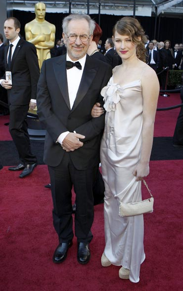 Steven Spielberg and daughter Destry Allyn