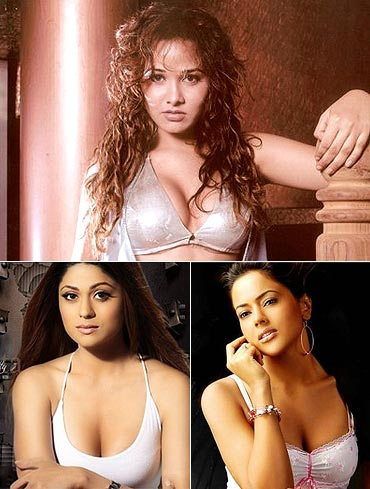Nisha Kothari, Shamita Shetty and Sameera Reddy