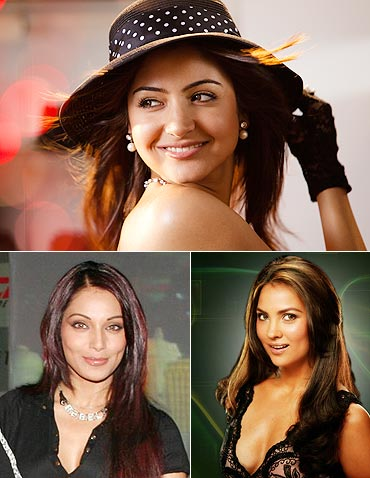 Anushka Sharma, Bipasha Basu and Lara Dutta