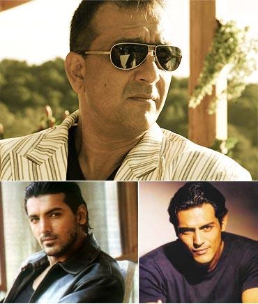 Sanjay Dutt, John Abraham and Arjun Rampal