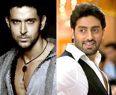 Hrithik Roshan and Abhishek Bachchan