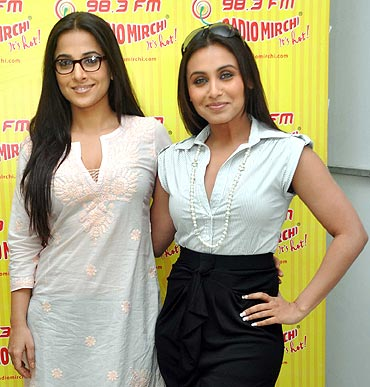 Rani Mukerji and Vidya Balan promote No One Killed Jessica