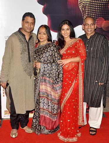 Vidya Balan with family