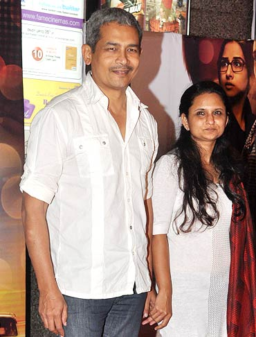 Atul Kulkarni with wife Gitanjali