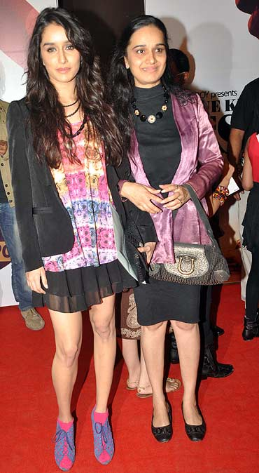 Shraddha Kapoor with mother Shivangi Kolhapure