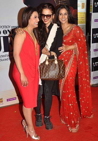 Rani Mukerji, Rekha and Vidya Balan