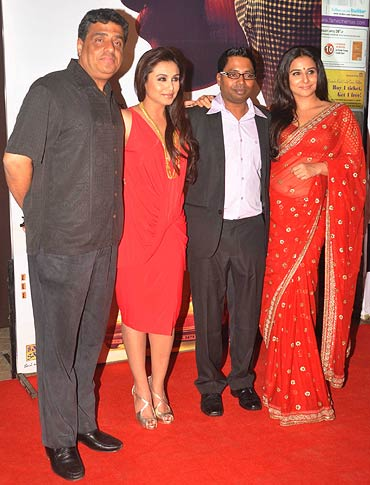 Ronnie Screwvala, Rani Mukerji, Raj Kumar Gupta and Vidya Balan