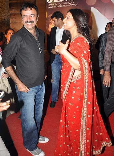 Rajkumar Hirani and Vidya Balan