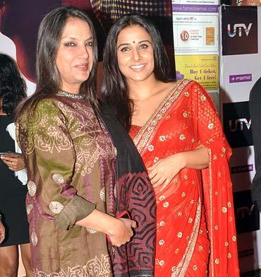 Shabana Azmi and Vidya Balan