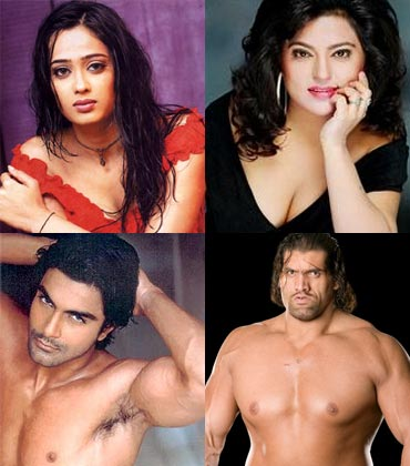 Shweta Tiwari, Dolly Bindra, Ashmit Patel and The Great Khali