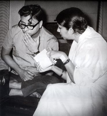 Rahul Dev Burman and Lata Mangeshkar