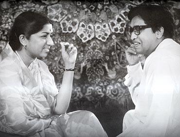 Lata Mangeshkar and Pandit Hridayanath Mangeshkar