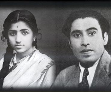 Lata Mangeshkar and Shyam Sunder