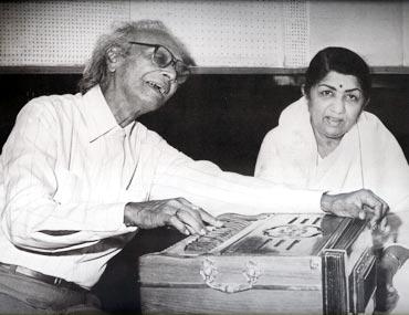 Naushad Ali and Lata Mangeshkar